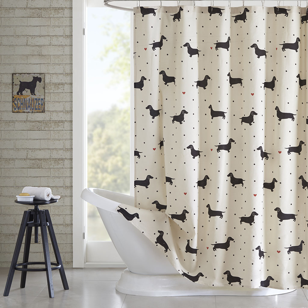 HipStyle Olivia Cotton Printed Shower Curtain EBay