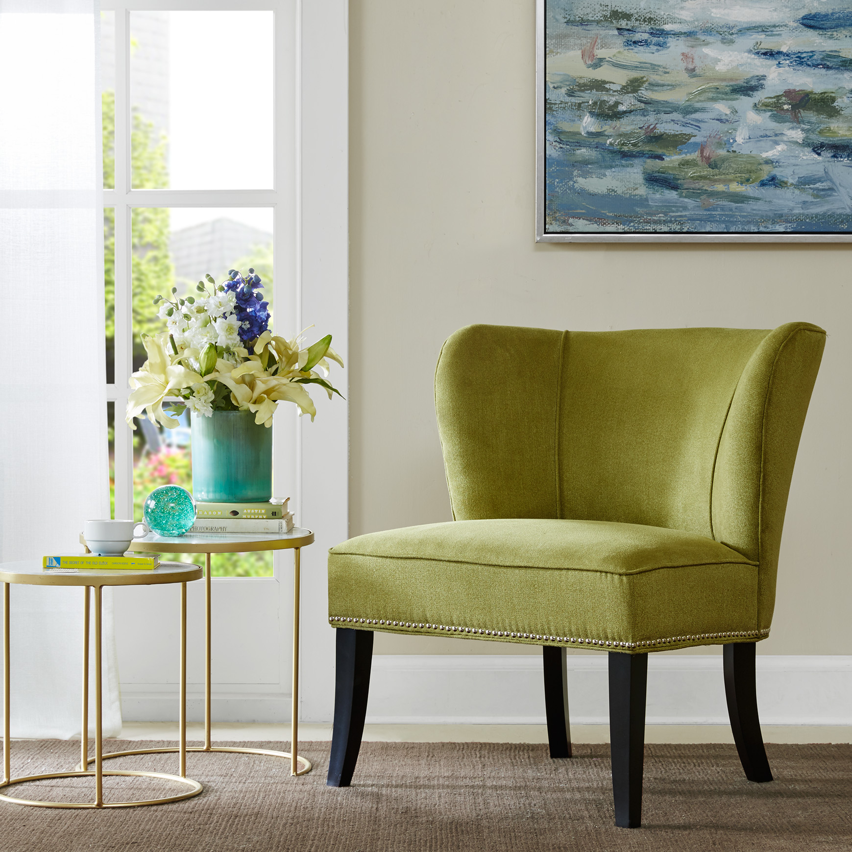 Mint Accent Chair Madison Park Hilton Armless Accent Chair Ebay