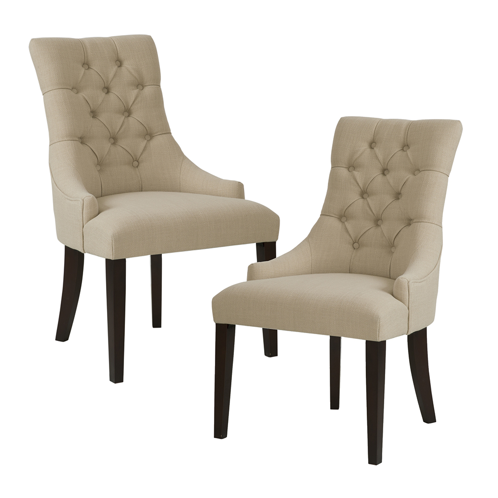 2 chair dining set chairs with caning madison park corbel tufted back of ebay
