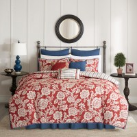 Madison Park Lucy 9 Piece Cotton Twill Reversible Duvet Set