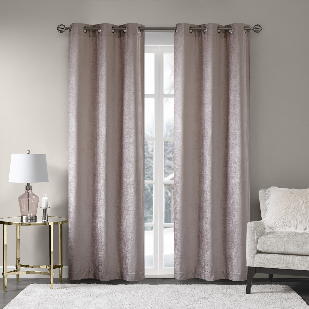 Madison Park Luxe Chenille Window Curtain Pair  eBay