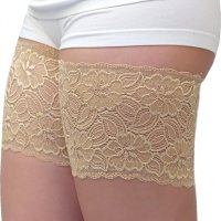 """Elastic Anti-Chafing Thigh Bands - Prevent Thigh Chafing. Gone are the days when wearing a gorgeous skirt or a s ummer dress seemed impossible. Say good bye to chafing thighs and the dreaded """"chub rub"""", and say hello to Bandelett es – the simple, yet sexy, anti-chafing leg bands. Bandelettes are so comfortable and convenient to wear, you can put  them on with almost anything, or even nothing at all. Their appearance is similar to high thigh tights, but there is nev er a need to worry about slipping or rolling. Fri, 11 Jun 2021 09:36:35 +0400"""