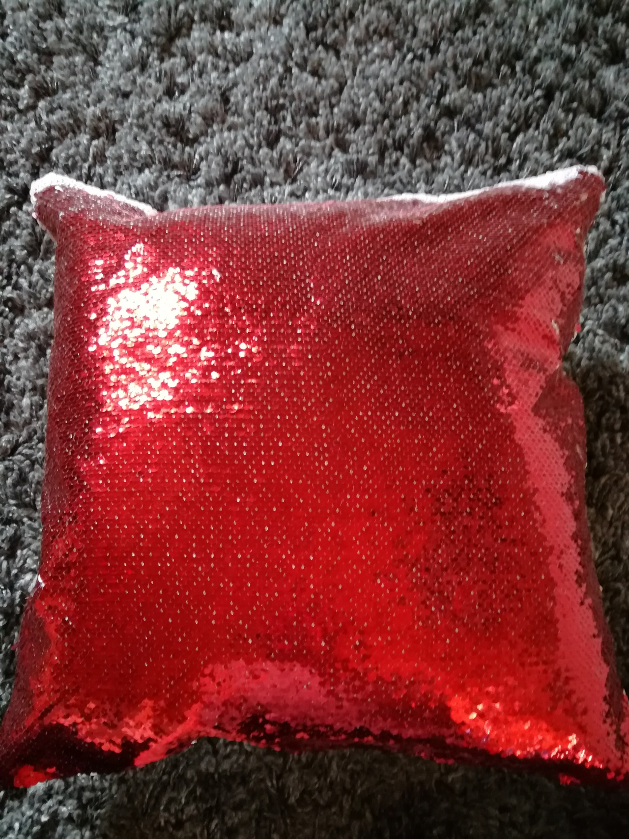 it s one of those sequin pillows where