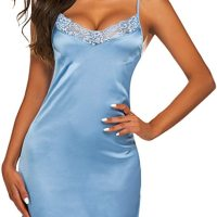 Women's Nightwear Sexy Satin Sleepwear Lace Chemises Mini Full Slip. This women's satin lace full slip chemi se lingerie is perfect for Sleepwear, Nightwear, Loungwear, Bride Wedding, Honeymoon Nights, Valentine's Day, Date Nig hts, Bedroom, Lingerie Party, or Special Nights. Thu, 14 Jan 2021 14:24:41 +0400