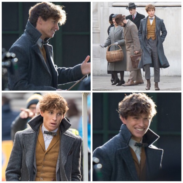 NEW! Wand at the ready. Eddie Redmayne reprises...