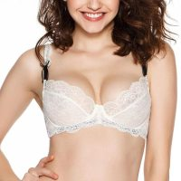 Bella Unlined Floral Sheer Lace Demi Bra Non-Padded Comfort Lift Balconette Mesh Underwire for Women. Adorned with sheer mesh lace and floral trim, this unlined lace bra contours your every curve for a comfortable fit without the extra padding. Lightweight and luxe design makes this cute balconette bra ideal for any everyday activity. Add Bella Lace Bikini as the perfect matching bottom to complete the look. Mon, 28 Dec 2020 05:14:03 +0400