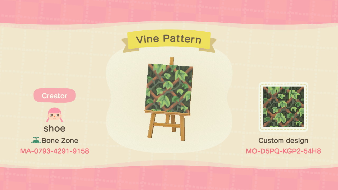 Animal Crossing Qr Closet Vine Lattice Wall Design For The Simple Panel