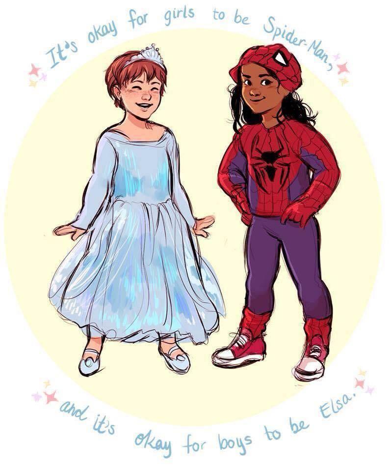 Spiderman X Elsa : spiderman, Feminist, Press