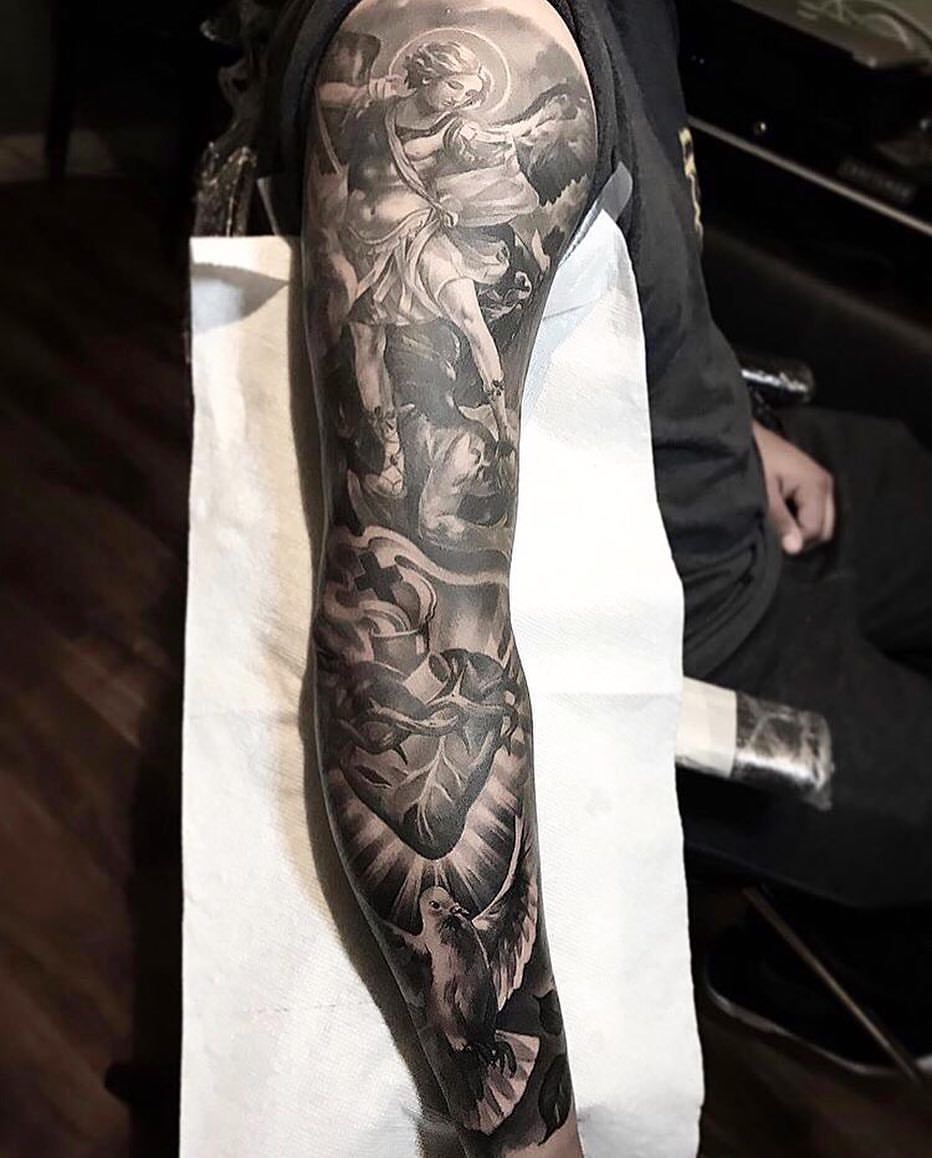 Good Vs Evil Tattoo Sleeve : tattoo, sleeve, Amazing, Artist, Flores, @fred_flores, Awesome...
