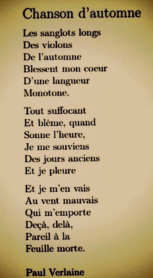 Blesse Mon Coeur D Une Langueur Monotone : blesse, coeur, langueur, monotone, Palace, Kinda, Weird., Chanson, D'automne, (Paul, Verlaine)
