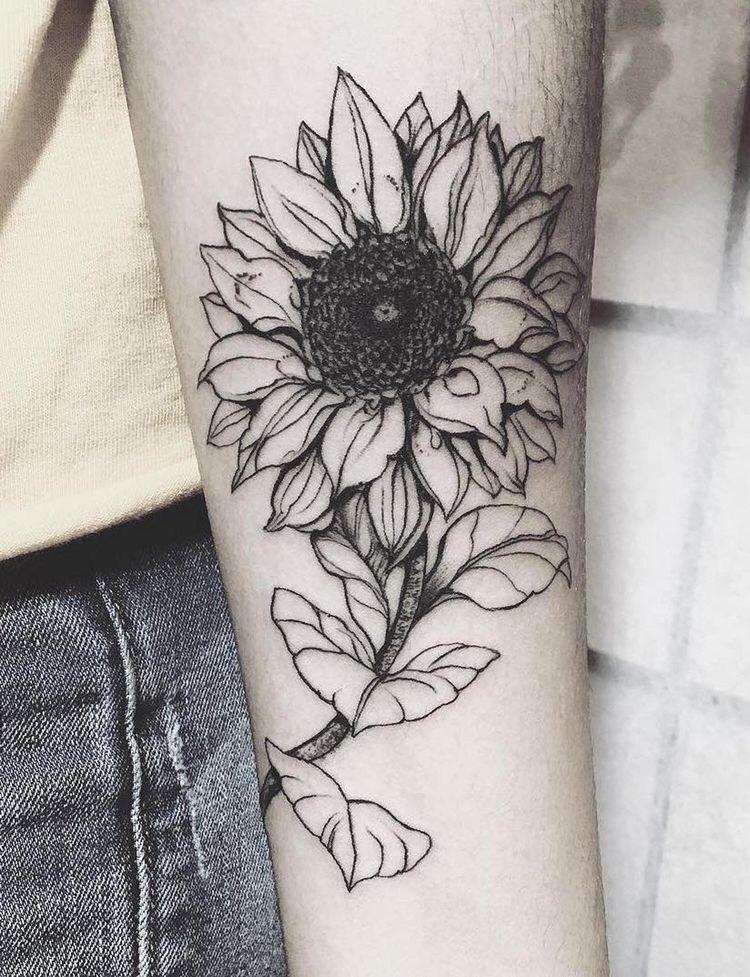 sunflower tattoo tumblr - Pesquisa Google … | Art, Drawings, Art...