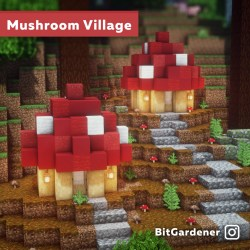 minecraft minecraftisthecoolest: I made some little mushroom