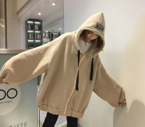 Vividspark Fashion Blog Happo Lettering Zip Hoodie