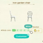 Custom Acnh Furniture Item Iron Garden Chair Of Customizations 5