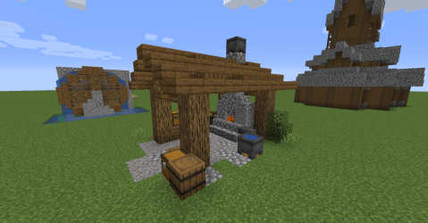 Minecraft Build Inspiration Just a small outdoor blacksmith s workshop