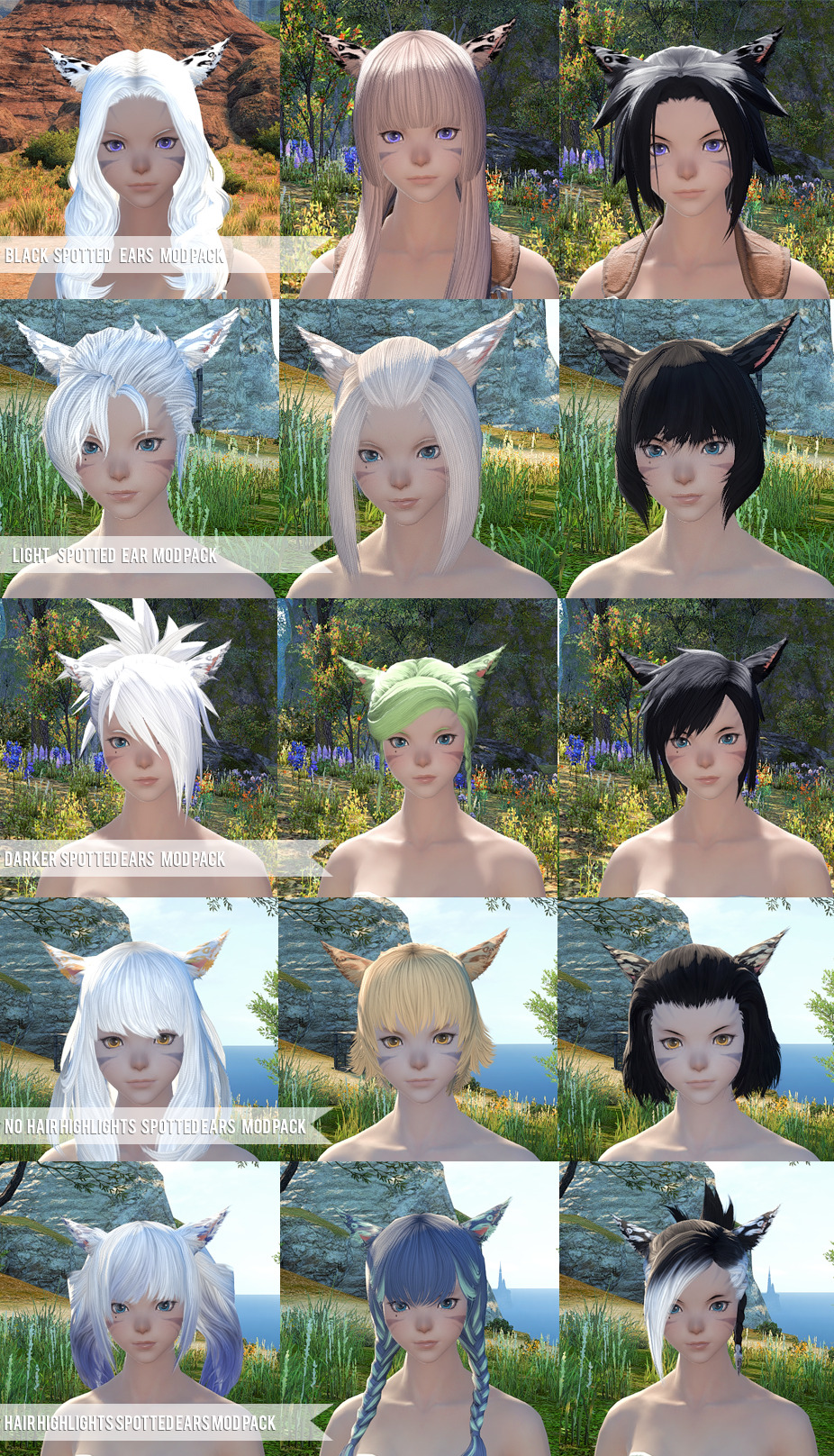Miqo Te Hairstyles : hairstyles, HEALER, TREASURE, HUNTER, TRAVELER, Spotted, Female, Miqo'te, There, Packs...