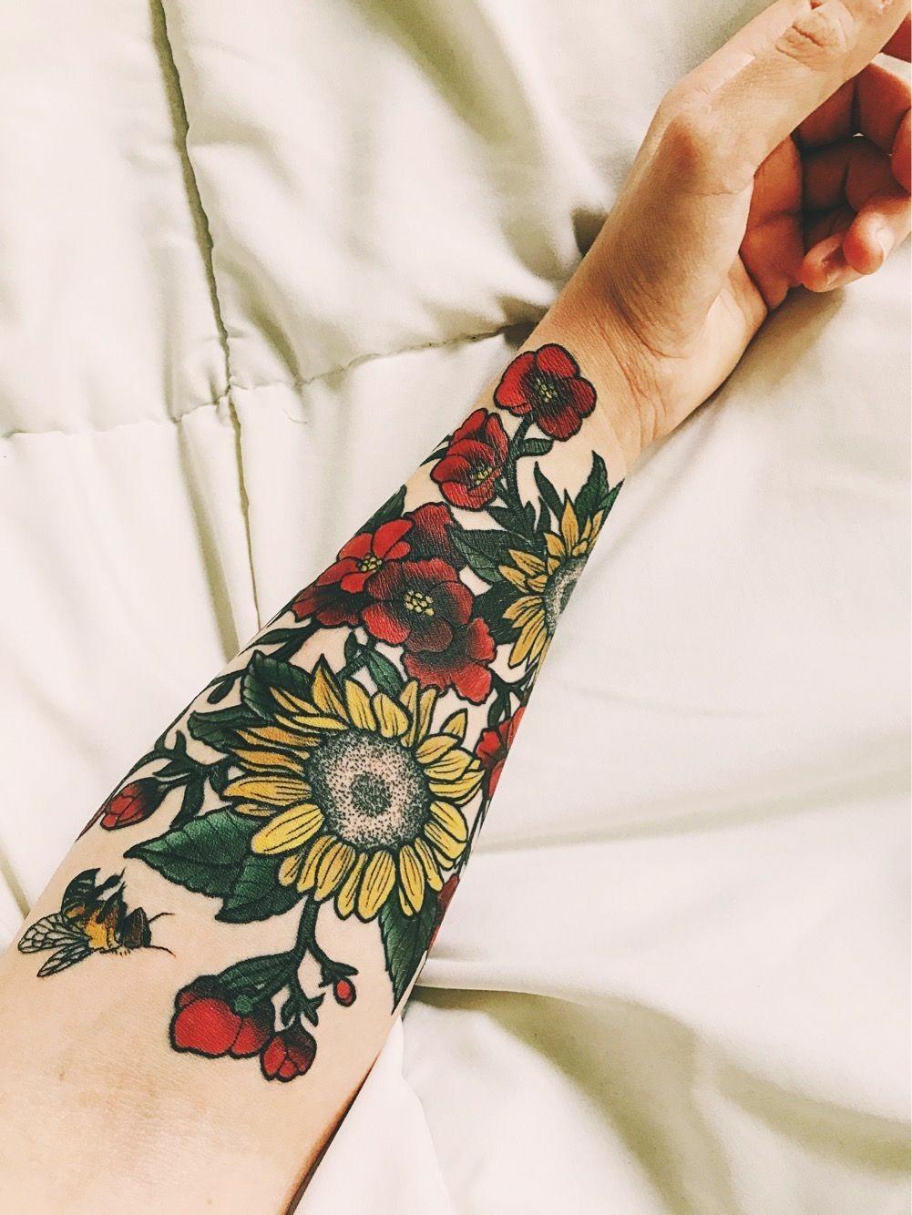 Sunflower Tattoo Tumblr : sunflower, tattoo, tumblr, Watercolor, Tattoos