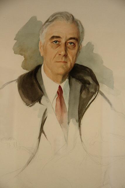 Unfinished Portrait Of Franklin D Roosevelt : unfinished, portrait, franklin, roosevelt, Presidents, April, 1945:, Unfinished, Portrait