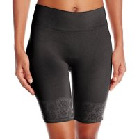Maidenform Women's Shapewear Peek Out Shapers Thigh Slimmer. Make a statement without saying a word. The Maide nform fashion seamless shorty lets you dial up the smooth while the peak-out lace trim on the waist band is sure to turn  your walk into a strut. Thu, 04 Mar 2021 04:48:32 +0400