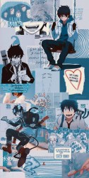 𝓪𝓷𝓲𝓶𝓮 𝔀𝓪𝓵𝓵𝓹𝓪𝓹𝓮𝓻𝓼 💙Aesthetic Blue Exorcist Wallpapers💛