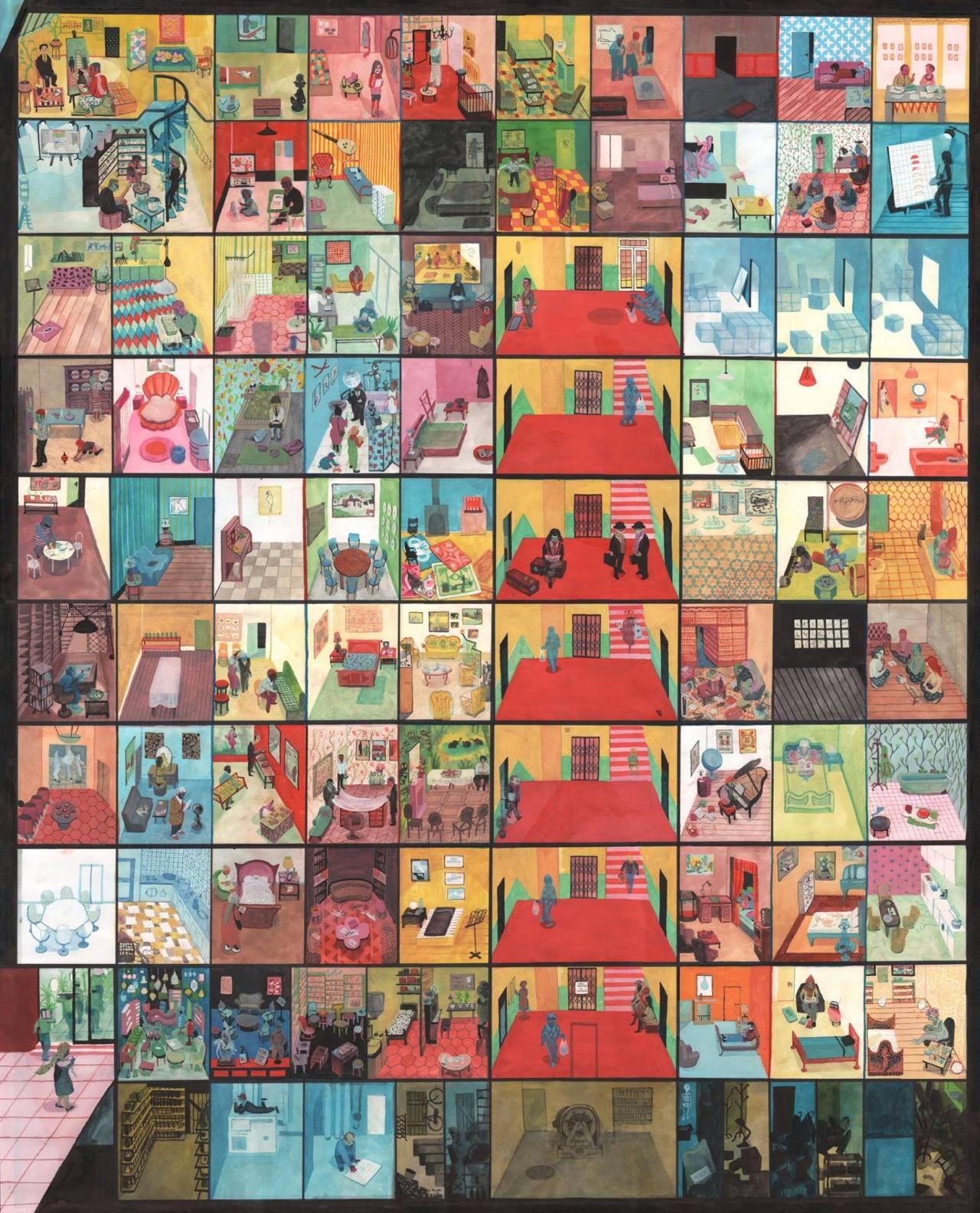 Perec La Vie Mode D'emploi : perec, d'emploi, Mainly, Illustrations, 'L'immeuble, Décrit, D'emploi', De...