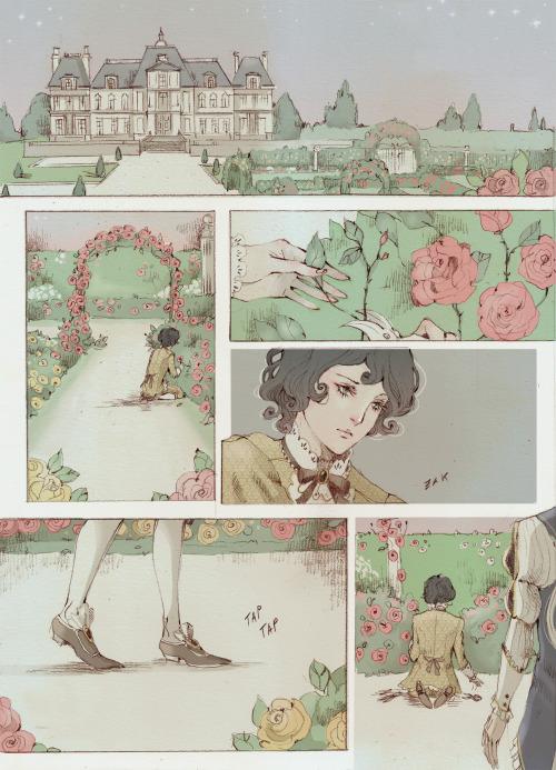 """Les Trois Roses — """"Je Fais De Toi Mon Essentiel"""" Art By Loputyn"""