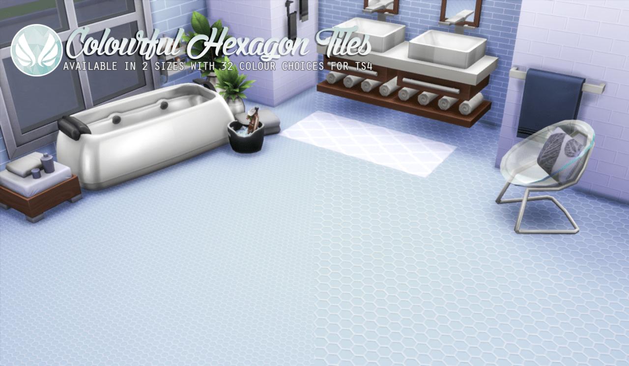 white hexagon floor