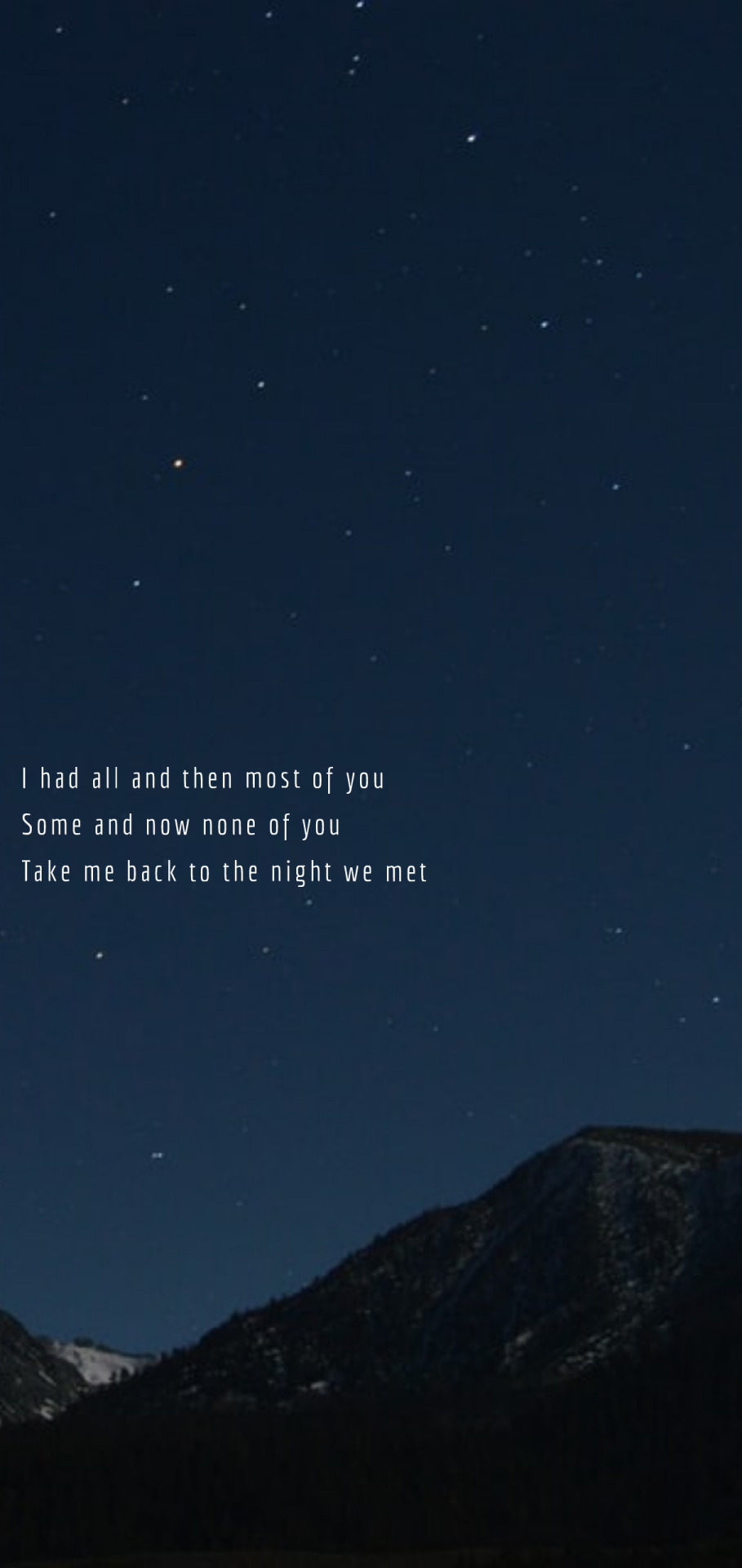 Take Me Back To The Night We Met : night, Lyrical, Locks, Huron, Night, Request, By...