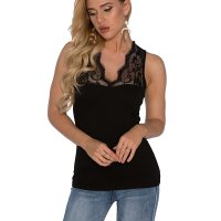 V Neck Lace Details Vest Blouse Womens Cami Tank Top. Its a nice tank top. It fits nicely and looks like it does in the picture. The fabric is a t-shirt material. Tue, 01 Sep 2020 14:24:56 +0400