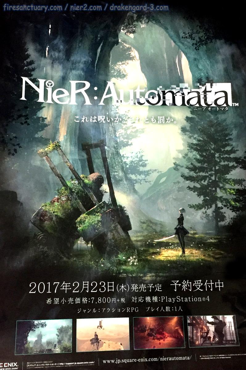 fire sanctuary nier automata poster