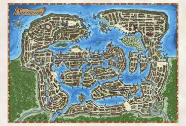 Fantasy Maps by Robert Lazzaretti My Poster map of the Coastal city of Sasserine
