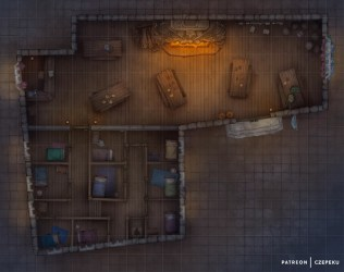 Czepeku s Maps Night at the Tavern DnD Battlemap For those who