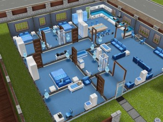 Sims Freeplay Original Designs Here s my one story blue house