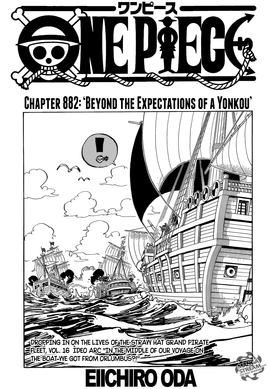 One Piece 882 : piece, Saying, Piece, Chapter, Review