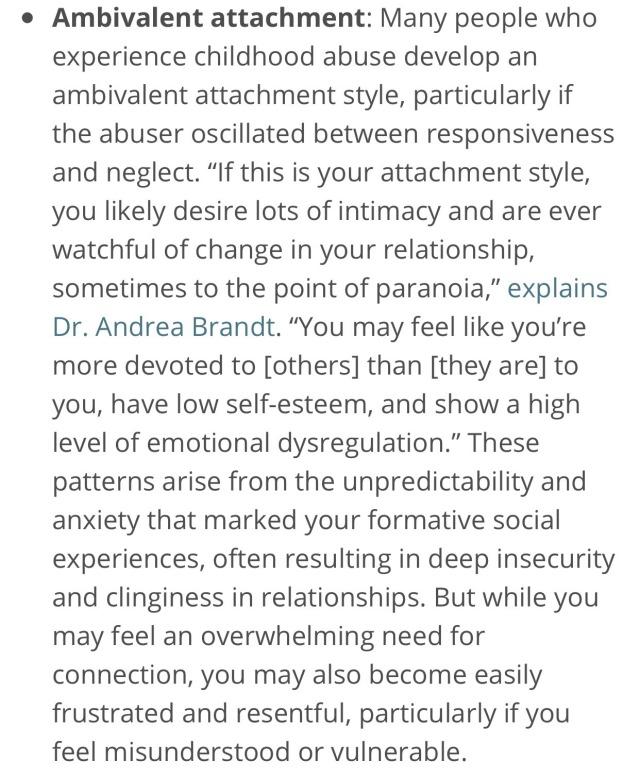 attachment disorder on Tumblr