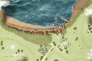 Fantasy Maps by Robert Lazzaretti A little sea breeze coastal village map I made