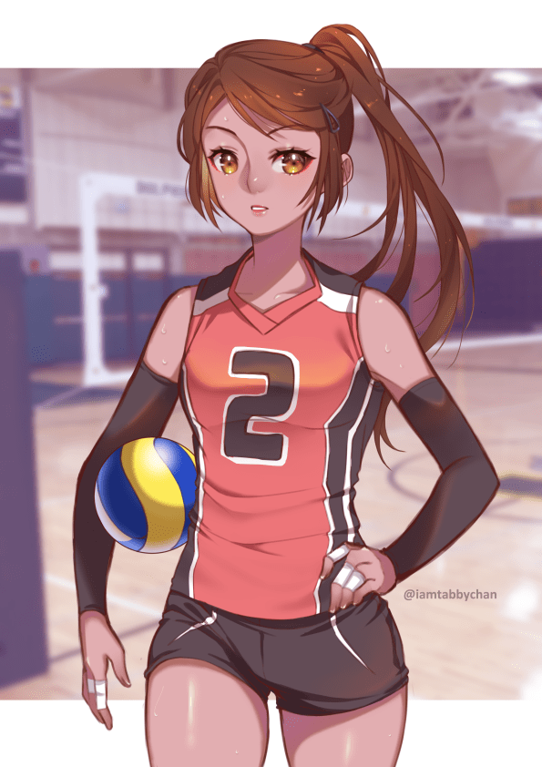 Anime Volleyball Girls : anime, volleyball, girls, Kawaii, Volleyball, Anime, Wallpaper