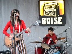 Seattle's Tres Leches played musical chairs with musical instruments and put on an awesome show during the KEXP Showcase at Radioland! -dig #Treefort2019 #RadioBoiseAlive #MediaSponsor