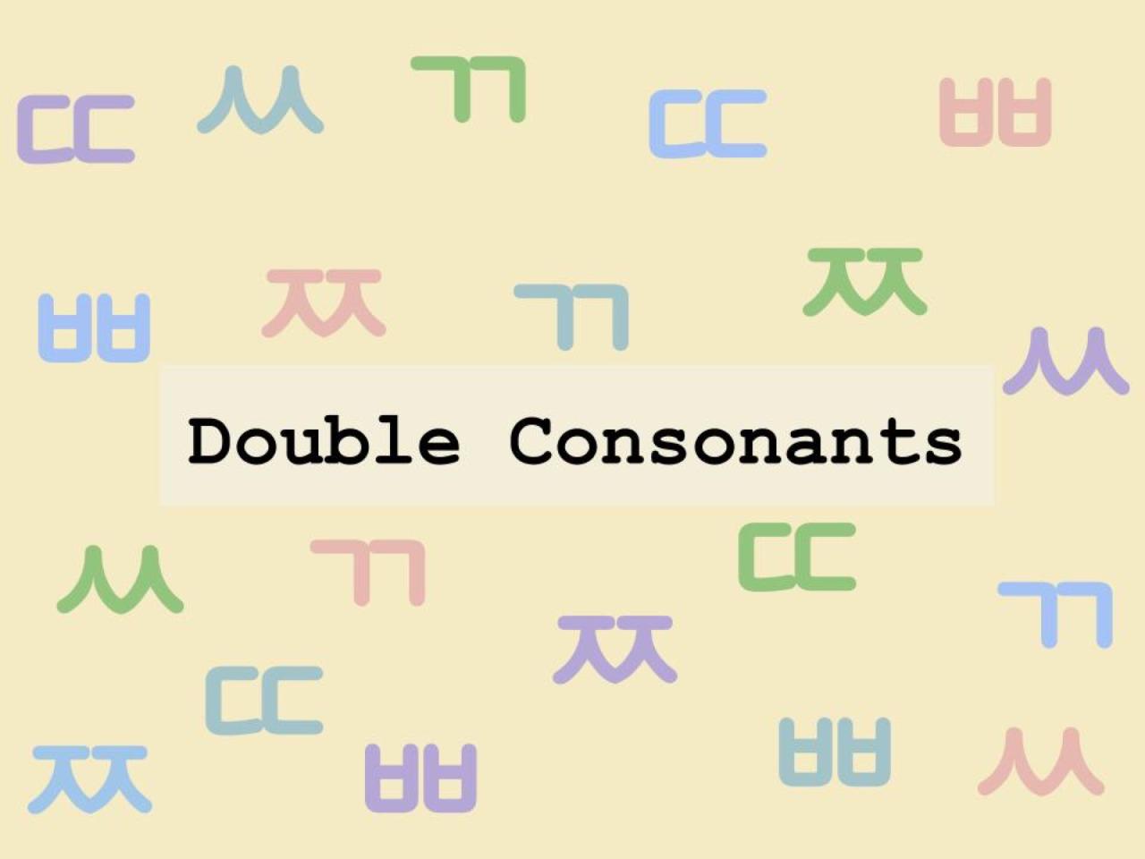 The Korean Alphabet Double Consonants One