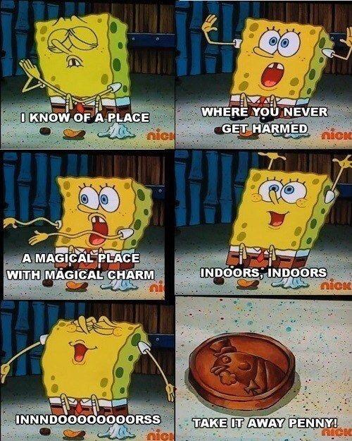 Spongebob Chip Penny Napkin : spongebob, penny, napkin, SPONGEBOB, SQUAREPANTS!, HAHA!