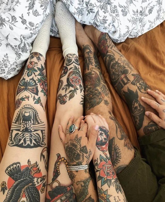 Tumblr Couple Tattoos : tumblr, couple, tattoos, Tattooed, Couple, Tumblr