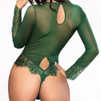 Women Sexy Lingerie Long Sleeve Bodysuit Lace Deep V Bodysuit Lingerie Sheer Teddy Lingerie. SEXY DESIGN–Deep  V design with lace rim, floral sheer lace, flower mesh, the lace bodysuit make you sexy, erotic, flexible, spice up your  nightlife. LACE BODYSUIT FIT PERFECTLY—this teddy lingerie is super stretchy one piece bodysuit,super good lingerie o utfit for women ,it is easy and fitted to wear,also can make a slimming effect and enhance your curves. Tue, 27 Oct 2020  19:12:50 +0400