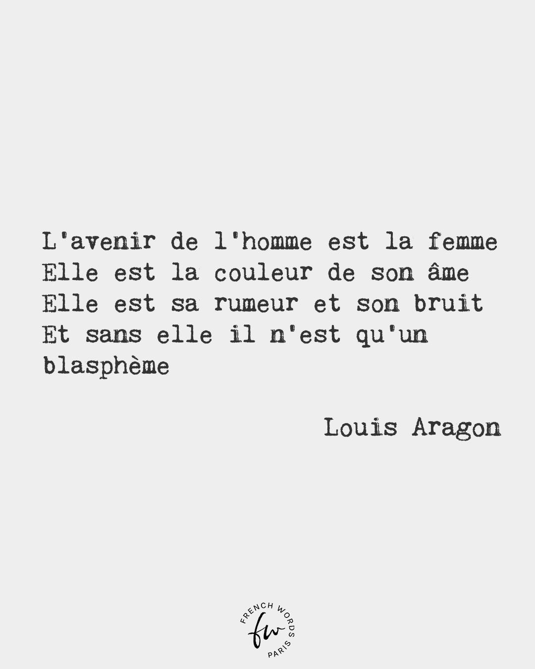 Aragon La Femme Est L'avenir De L'homme : aragon, femme, l'avenir, l'homme, French, Words, Woman, Future, Colour, Of...