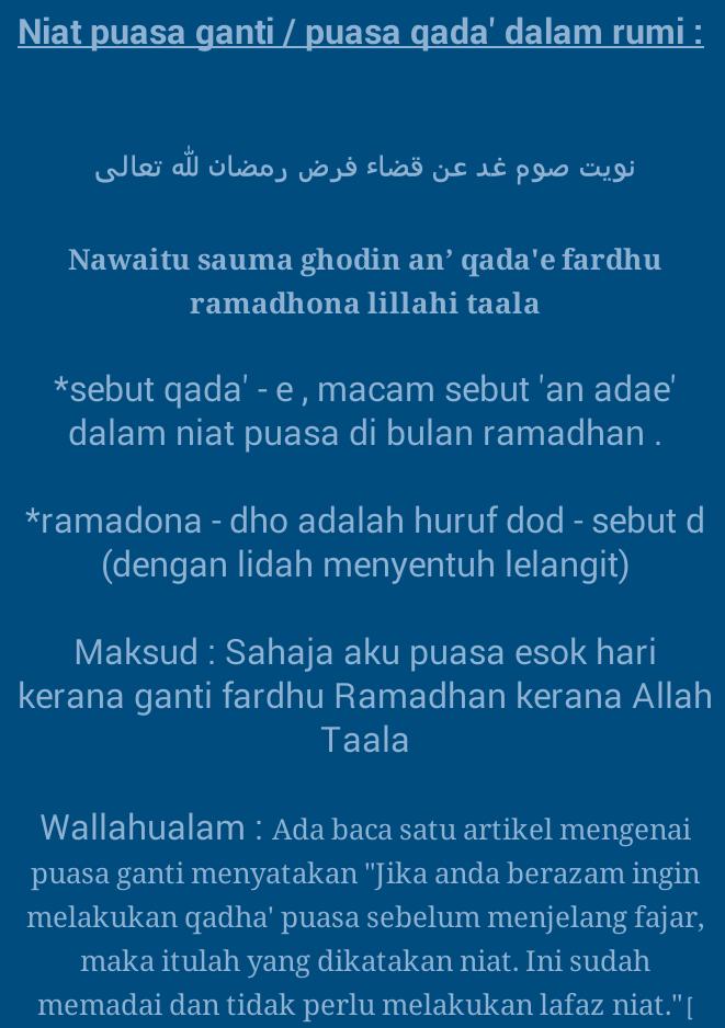 Niat Puasa Ganti Bulan Ramadhan : puasa, ganti, bulan, ramadhan, Arnamee's, Tumblr, Ganti, Puasa.