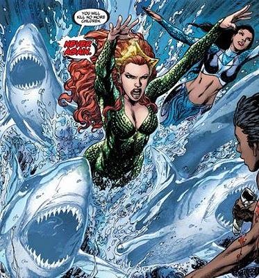 DC Women Kicking Ass — Shark Week 2011: DC (and Marvel) Women and Sharks