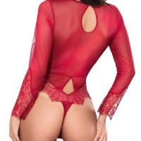 Women Sexy Lingerie Long Sleeve Bodysuit Lace Deep V Bodysuit Lingerie Sheer Teddy Lingerie. SEXY DESIGN–Deep  V design with lace rim, floral sheer lace, flower mesh, the lace bodysuit make you sexy, erotic, flexible, spice up your  nightlife. LACE BODYSUIT FIT PERFECTLY—this teddy lingerie is super stretchy one piece bodysuit,super good lingerie o utfit for women ,it is easy and fitted to wear,also can make a slimming effect and enhance your curves. Wed, 28 Oct 2020  09:36:32 +0400