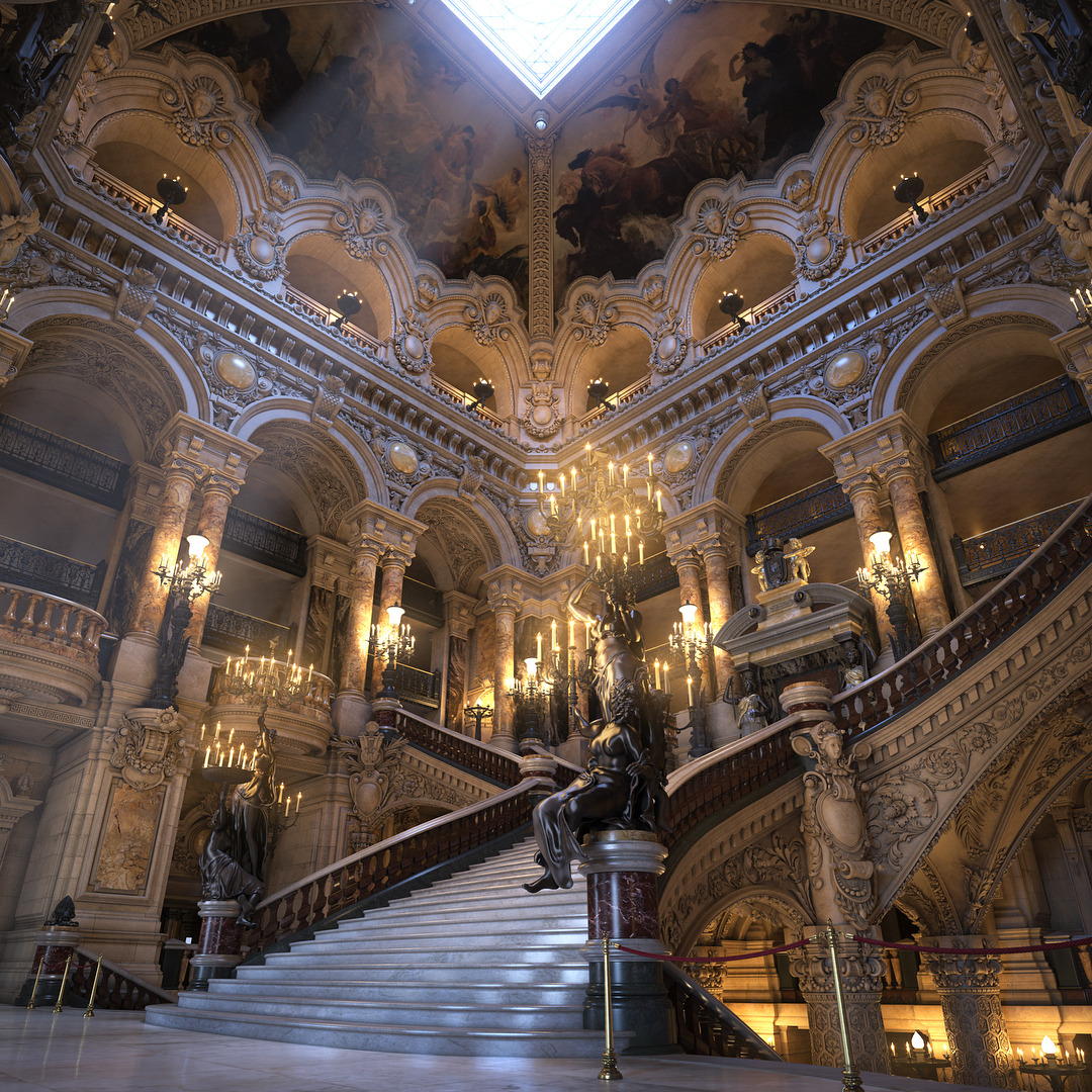 Royal Aesthetics Inkxlenses Palais Garnier Grand Staircase 3d