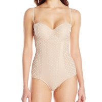 Heavenly Shapewear Women's Molded Cup Dot Bodysuit. This polka dot jacquard molded cup bodysuit has adjustable /convertible shoulder straps with a hook and eye closure at the leg opening. Sat, 27 Mar 2021 04:48:47 +0400
