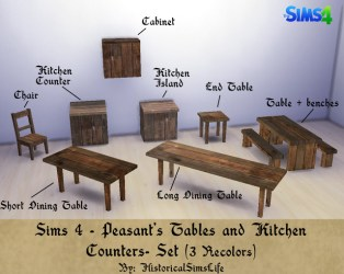 Sims 4 medieval and fantasy Medieval Peastan t kitchen by HistoricalSimsLife