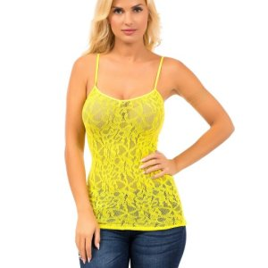 Allover lace brings a romantic touch to this camisole. The adjustable straps provide a custom fit. , Wed, 31 Mar 2021 04:48:39 +0100